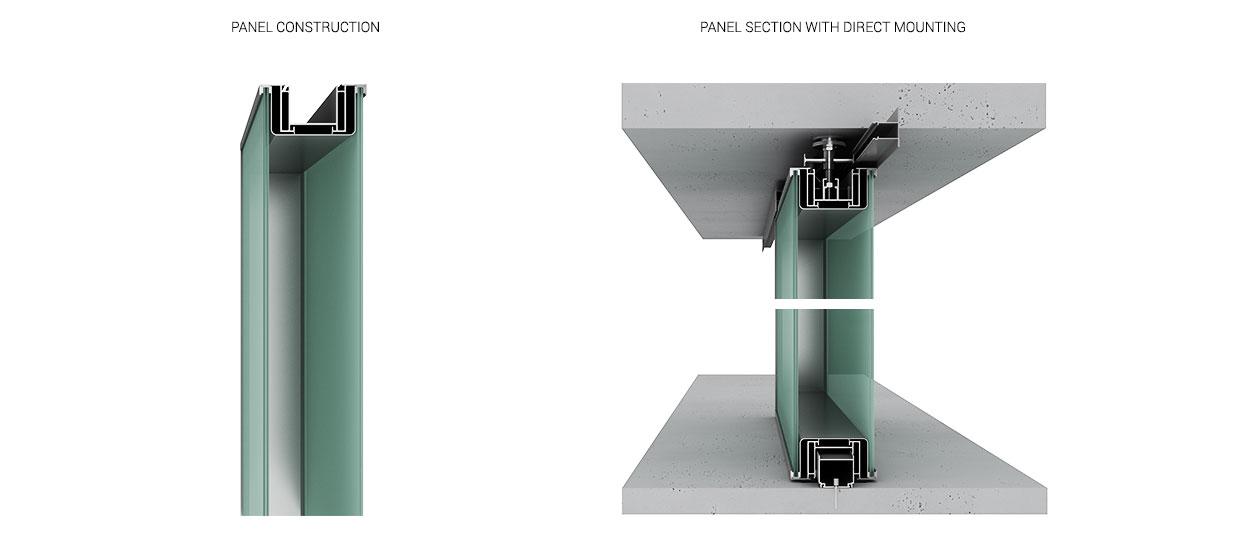 Partition Walls Komandor Taw110d Double Glass Demontable